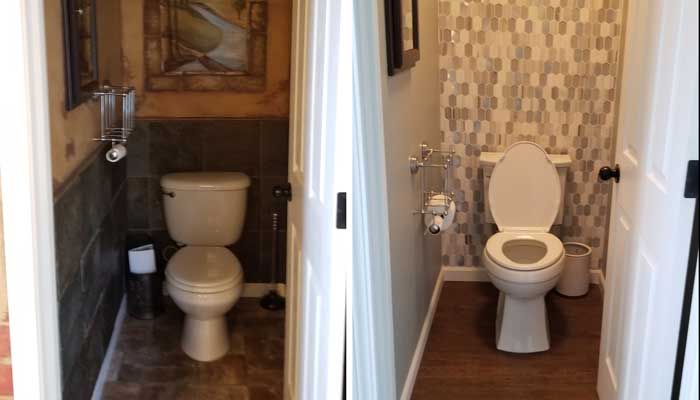 Bathroom Remodel - Before & After