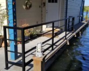 Houseboat Side Rail Installed